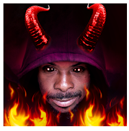 devil horns photo editor